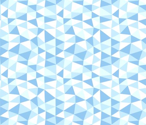 triangle twist - baby blue fabric by flowerpress on Spoonflower - custom fabric