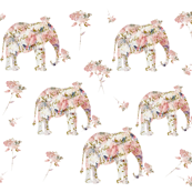 Elephants and Roses with a bit of French script