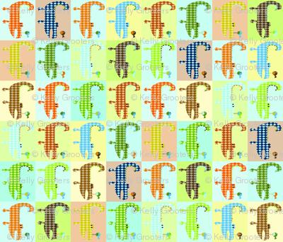 Argyle Alligators - rough colorway blocks