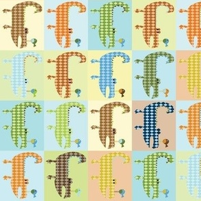 Argyle Alligators - rough colorway blocks