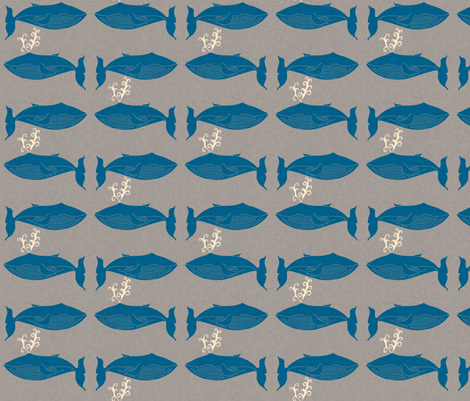 whale_and_spout_linen fabric by holli_zollinger on Spoonflower - custom fabric