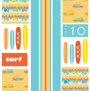 Lex's surfing  squares ©2012 Jill Bull