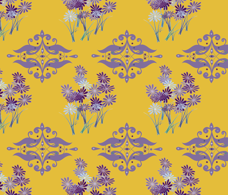 Royal Flowers fabric by captiveinflorida on Spoonflower - custom fabric