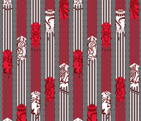 Squid Stripes fabric by jillianmorris on Spoonflower - custom fabric