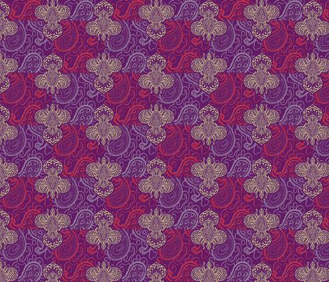 ©2011 Fleur de Lis de Paisley fabric by glimmericks on Spoonflower - custom fabric