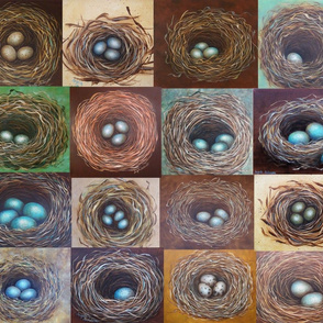 Nest Collage Fabric