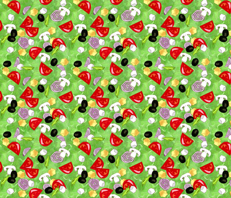 ©2011 Tossed Salad fabric by glimmericks on Spoonflower - custom fabric