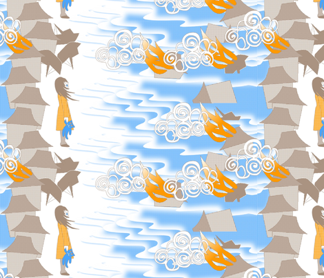 ©2011 After_the_Tsunami fabric by glimmericks on Spoonflower - custom fabric