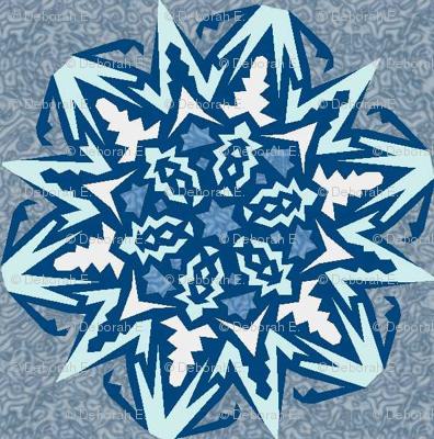 Snowflakes – Blue Ice