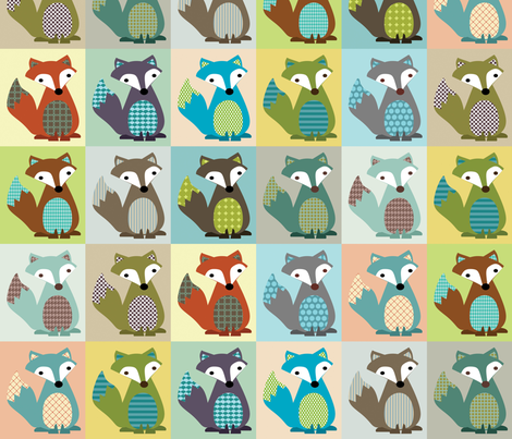 Fox_Tails fabric by petunias on Spoonflower - custom fabric
