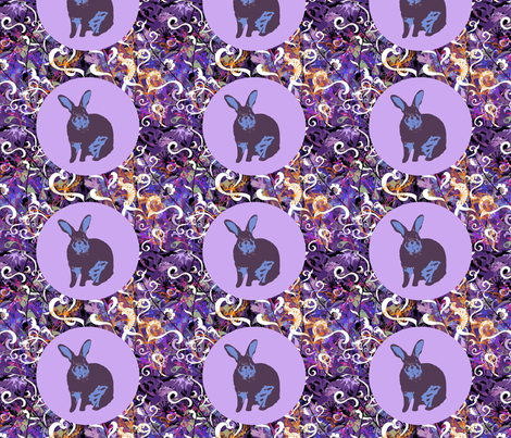 Purple Bowie fabric by captiveinflorida on Spoonflower - custom fabric