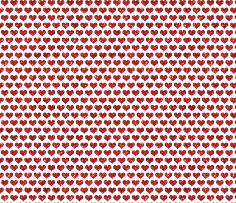 Glitter Hearts Red fabric by cynthiafrenette on Spoonflower - custom fabric