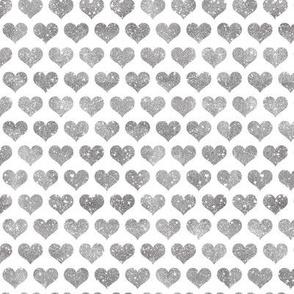 Glitter Hearts Silver