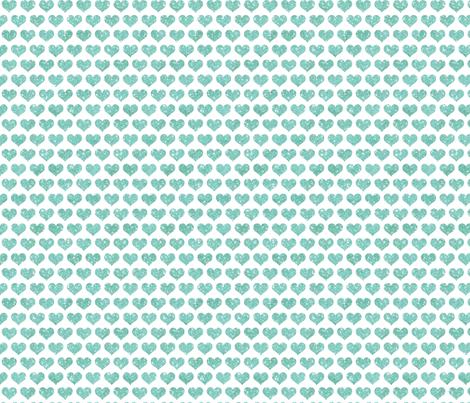 Glitter Hearts Sky Blue fabric by cynthiafrenette on Spoonflower - custom fabric