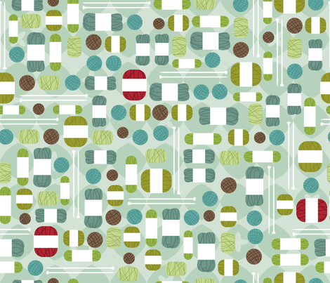 Mod Knitter fabric by cynthiafrenette on Spoonflower - custom fabric