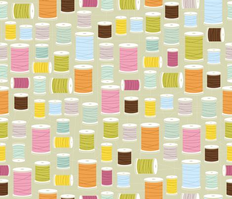 Mod Threads fabric by cynthiafrenette on Spoonflower - custom fabric