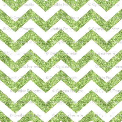 Glitter Chevron Green