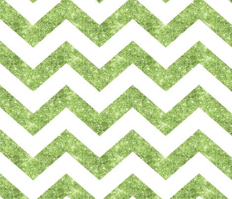 Glitter Chevron Green fabric by cynthiafrenette on Spoonflower - custom fabric