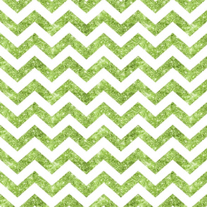 Glitter Chevron Green