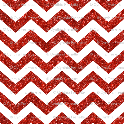 Glitter Chevrons Red