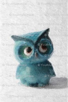 painted_blue_owl_white