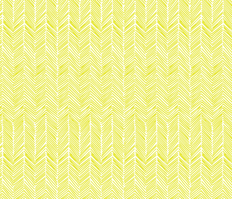 Freeform Arrows in citron fabric by domesticate on Spoonflower - custom fabric