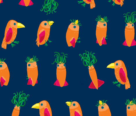 From Bird to Squid fabric by pixo on Spoonflower - custom fabric