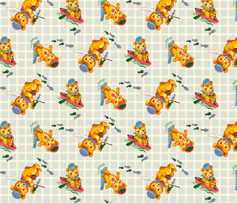 Not Your Average Bear fabric by squirrellymae on Spoonflower - custom fabric