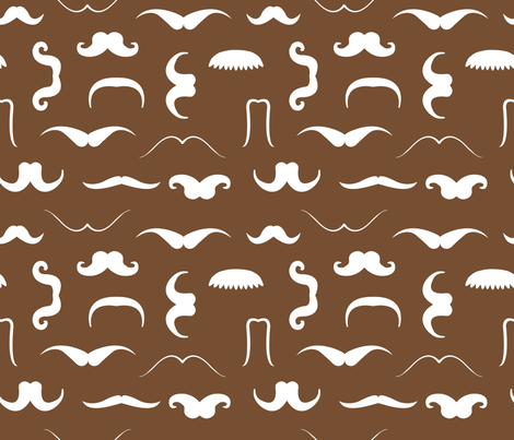 Moustache_4 fabric by illustrative_images on Spoonflower - custom fabric