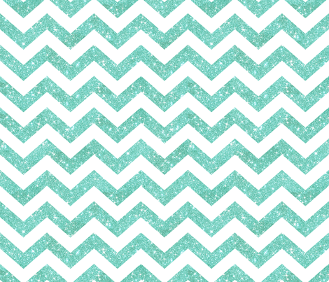 Glitter Chevron  Sky Blue fabric by cynthiafrenette on Spoonflower - custom fabric