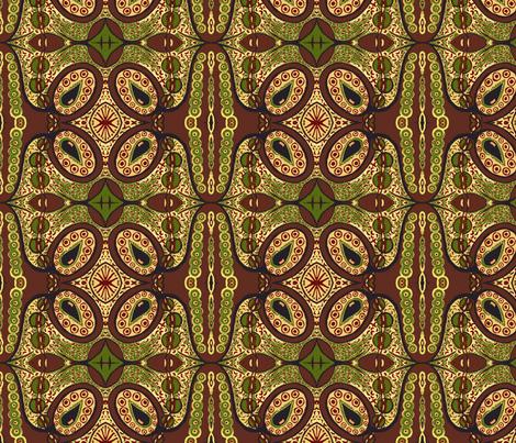Earth tones tear pod fabric by tallulah11 on Spoonflower - custom fabric