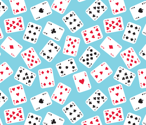In Wonderland: Playing Cards fabric by jazzypatterns on Spoonflower - custom fabric