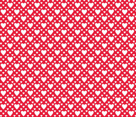In Wonderland: Hearts fabric by jazzypatterns on Spoonflower - custom fabric