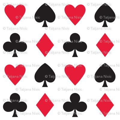 In Wonderland: Hearts, clubs, diamonds, & spades