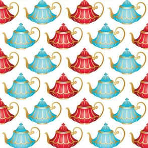 In Wonderland: Teapots