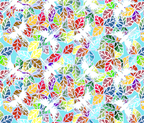 ©2011 Birds of a Jungle fabric by glimmericks on Spoonflower - custom fabric