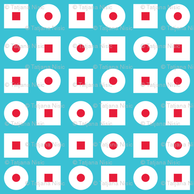In Wonderland: Squares & Dots