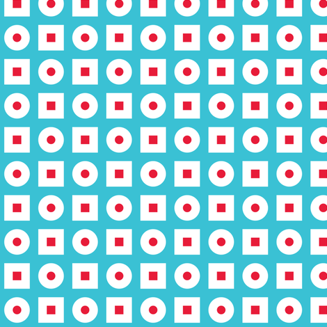 In Wonderland: Squares & Dots fabric by jazzypatterns on Spoonflower - custom fabric