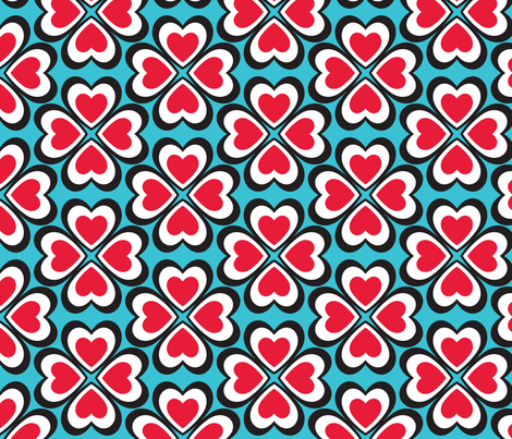 In Wonderland: Heart to Heart fabric by jazzypatterns on Spoonflower - custom fabric