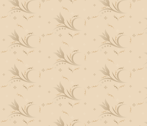 Tulip Mist in sand © 2009 Gingezel™ Inc. fabric by gingezel on Spoonflower - custom fabric