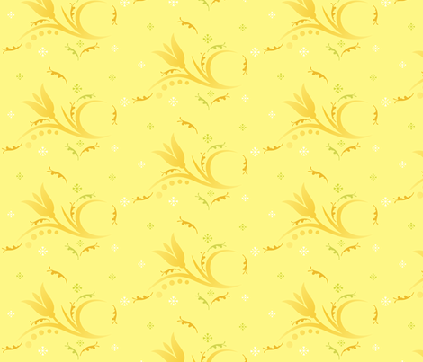 Tulip Mist large in yellow © 2009 Gingezel™ Inc. fabric by gingezel on Spoonflower - custom fabric
