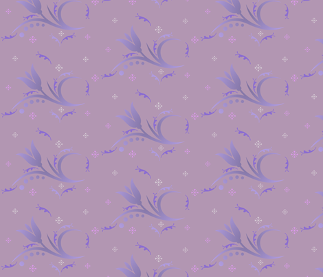Tulip Mist large in hyacinth purple © 2009 Gingezel™ Inc. fabric by gingezel on Spoonflower - custom fabric