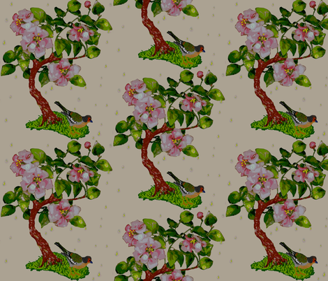 spring shower fabric by paragonstudios on Spoonflower - custom fabric