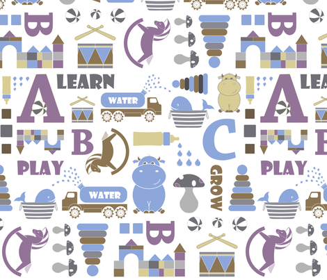 My toys come alive... fabric by newmomdesigns on Spoonflower - custom fabric
