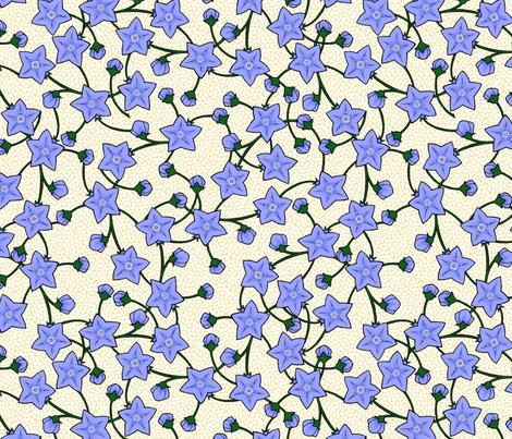 Chinese Balloonflowers - Rice fabric by siya on Spoonflower - custom fabric