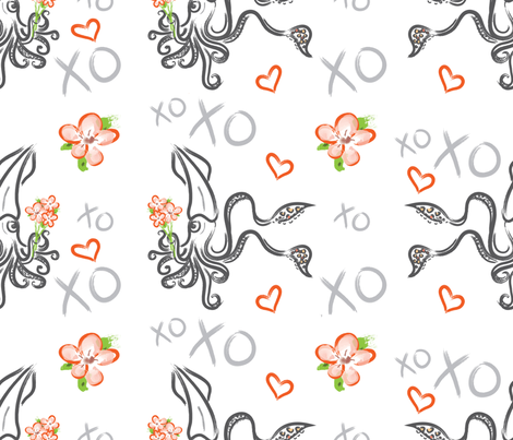 Deep Sea Love fabric by beebottomdesigns on Spoonflower - custom fabric