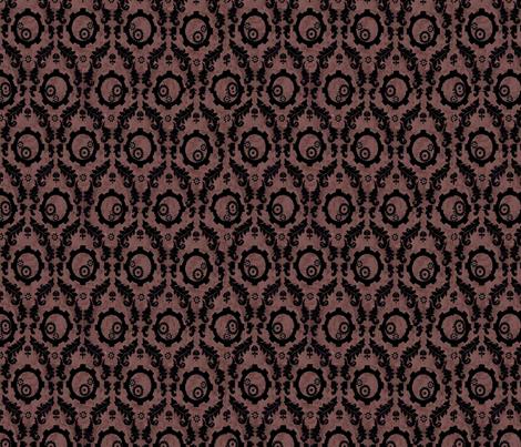 black_gear_damask fabric by blackfeatherswan on Spoonflower - custom fabric
