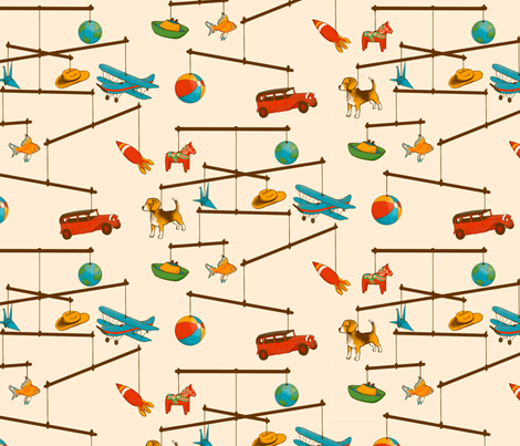 mobile2 fabric by rose'n'thorn on Spoonflower - custom fabric