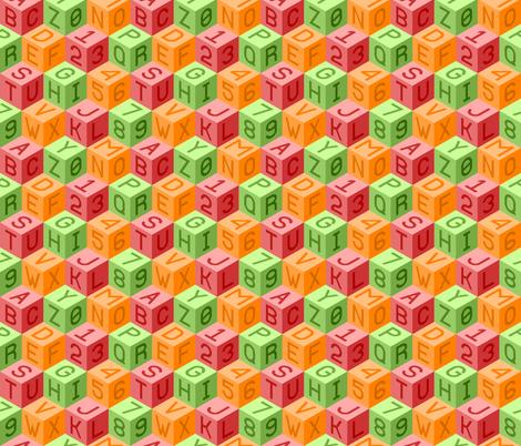 alphanum cubes ROL fabric by sef on Spoonflower - custom fabric