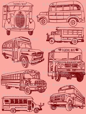 Big Bad School Bus Fleet fabric - edsel2084 - Spoonflower